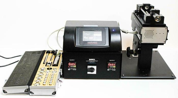 Used Harvard Apparatus Barrel Micro Syringe Type Extruder 70-3310 w/ Heater (5690) c