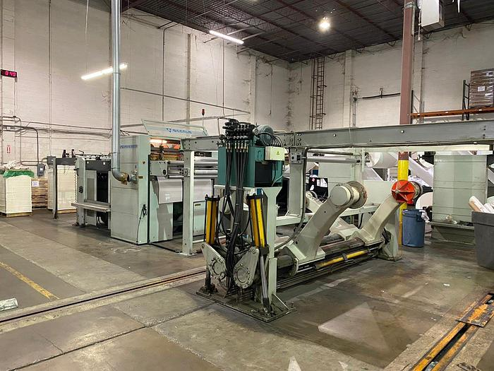"""Used 55"""" (1.40M) ACCURA APEX 140 SINGLE KNIFE HIGH SPEED SHEETER"""