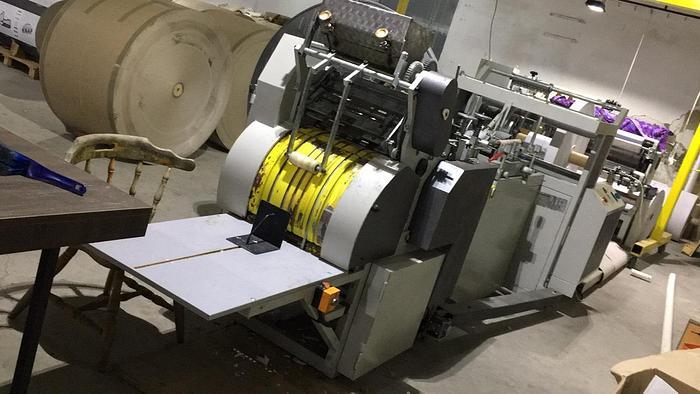 GRACIJANI + 3 col. flexo – Flat satchel paper bag making machine (year 2016)