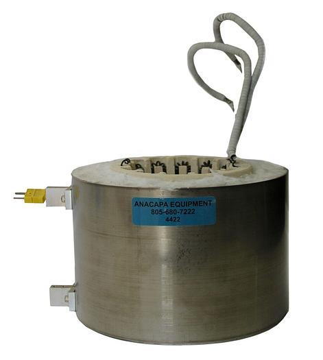 "Used Tube Furnace Ceramic Heating Element Custom 4"" ID 5 3/4"" Length (4422)"