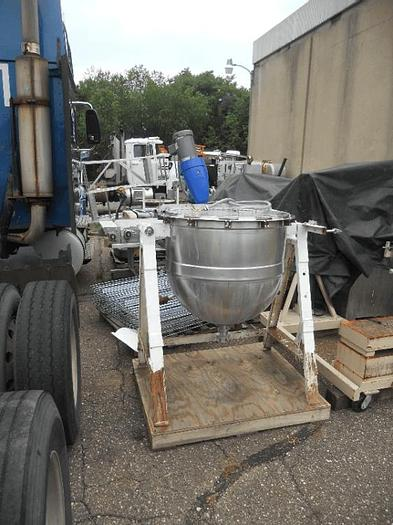 Used 60 GALLON LEE AGITATED KETTLE  – S/S – JACKETED