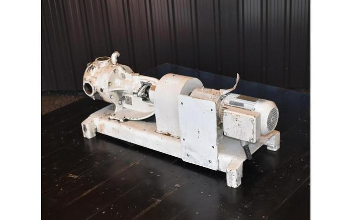 """USED VIKING GEAR PUMP, 2"""" X 2"""" INLET & OUTLET, CAST IRON, JACKETED"""