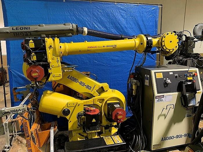 Used FANUC R2000iB/185L 6 AXIS CNC ROBOT WITH R30iA CONTROLLER