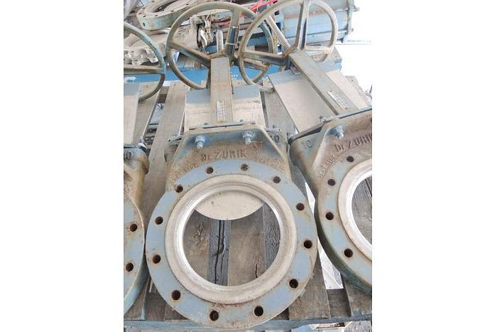 USED KNIFE GATE VALVE, SIZE: 10""