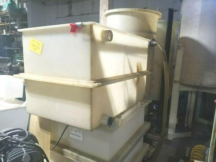 "Used Polypropylene Plating Tank 47"" long x 26"" wide x 27"" Deep"