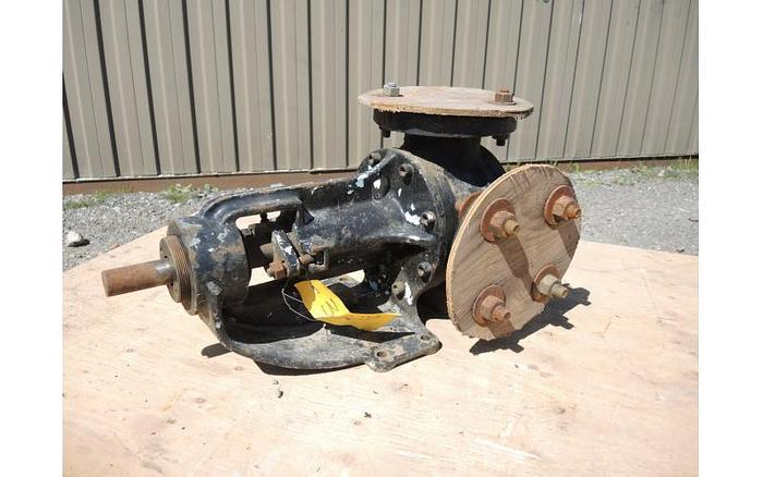 "USED GEAR PUMP, 2"" X 2"" INLET & OUTLET, CAST IRON, JACKETED"