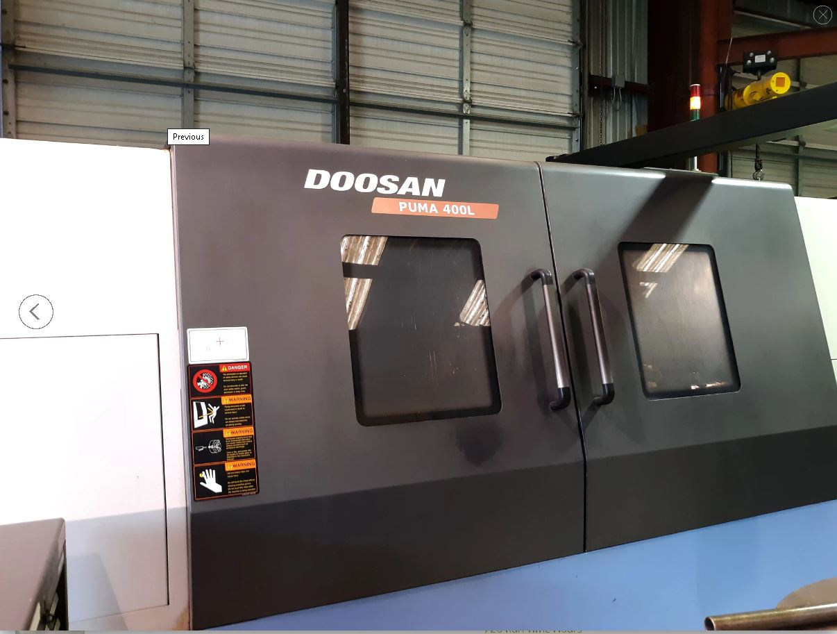 2011 DOOSAN PUMA  DOOSAN PUMA 400LC WITH STEADY REST