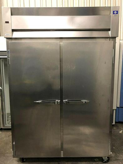 Used McCall Double-Door Stainless Steel Refrigerator