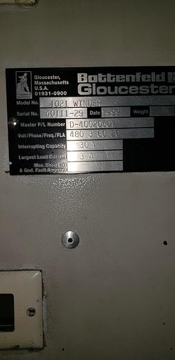 """Used Gloucester Engineering Co 1021 surface winder 54"""""""
