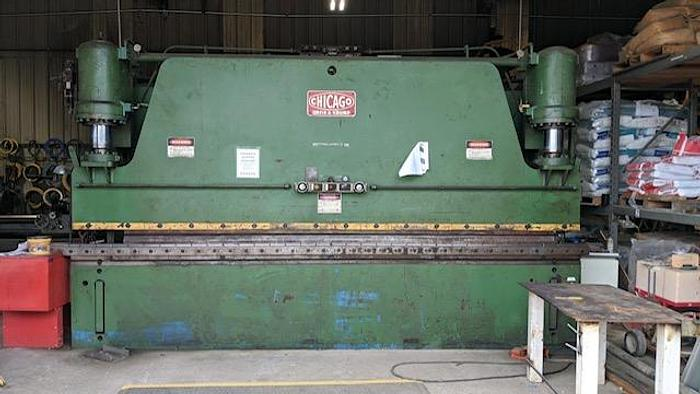Used 200 Ton Chicago  Hydraulic Press Brake
