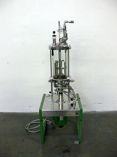Used Braun 880 141/0 13.7L 1.3 bar 124C Schott Gerate Glass Bio Reactor + .75kW Motor