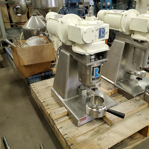 Used 1/2 PINT ROSS DOUBLE PLANETARY MIXER - S/S - VACUUM - JACKETED