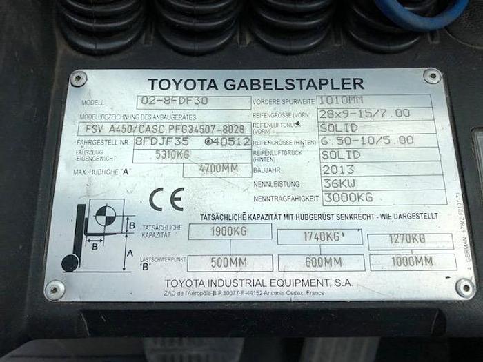 2013 Toyota 02-8 FD F30