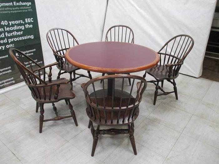 Used Table & Chairs; Wood