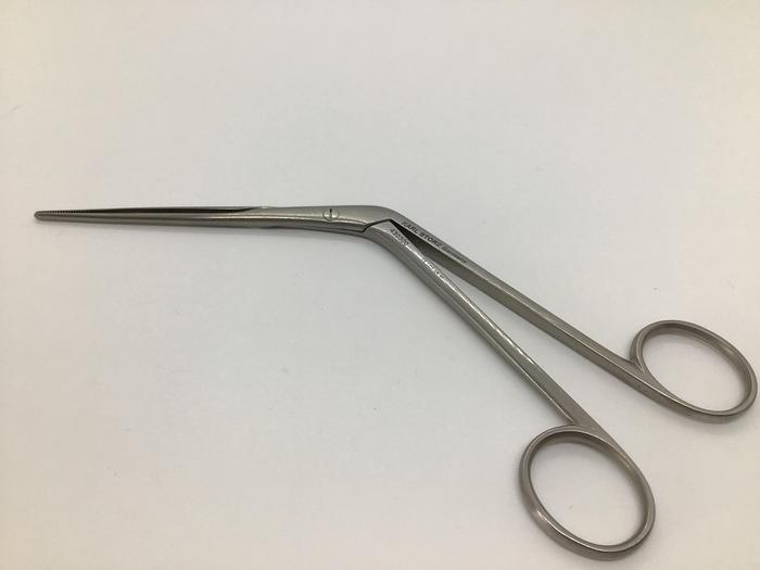 Used STORZ Forceps Nasal Dressing Lubet Barbon Serrated 105mm to Shaft 430300