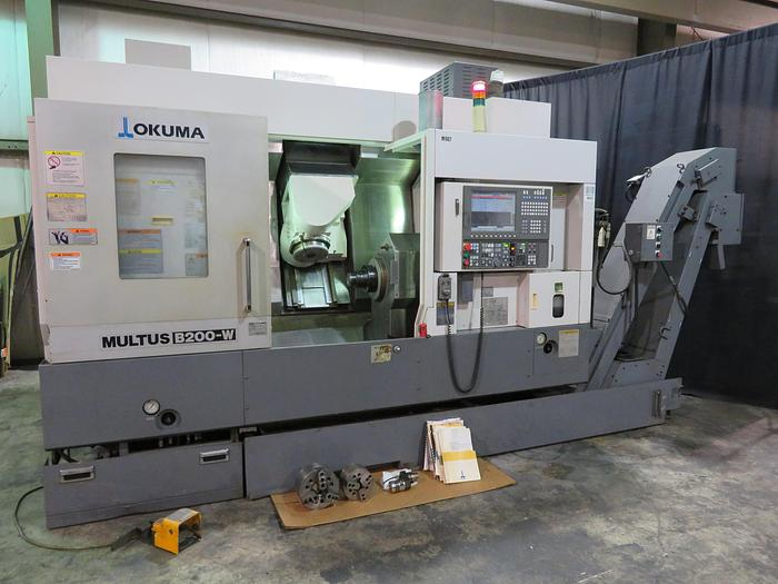 Used 2008 Okuma Multus B200W Multi Axis CNC Turning Lathe