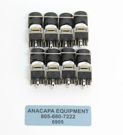 Alcoswitch TE Connectivity 164EL Push Button RND ILL NEW LOT OF 8 (6905)