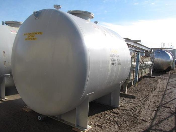 USED 3420 GALLON TANK (VESSEL), RUBBERLINED STEEL, HORIZONTAL