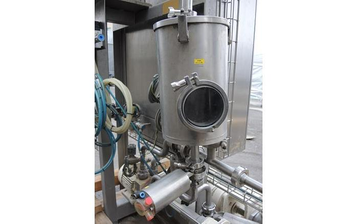 USED FRYMA DEAERATOR, MODEL VE- II, 316 STAINLESS STEEL, SANITARY, WITH HEAT EXCHANGER