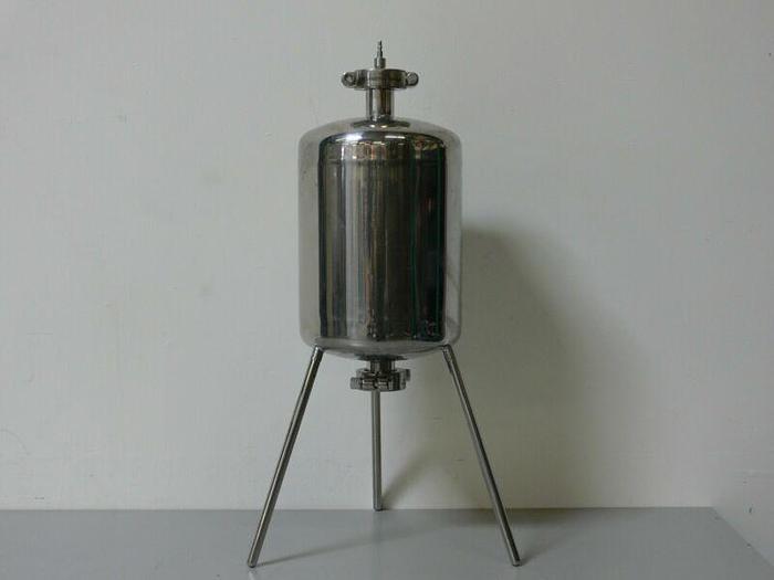 Used Sartorius Stedim 10 Liter 316L Stainless Steel Pressure Vessel w/ Bottom Drain