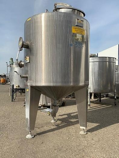 400 Gallon Stainless Steel Vertical Holding Tank