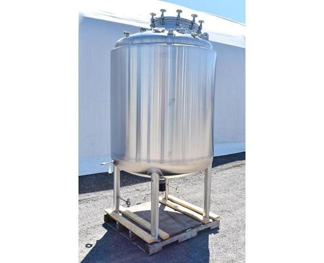 USED 396 GALLON TANK (VESSEL), 316L STAINLESS STEEL, WITH MEZZANINE