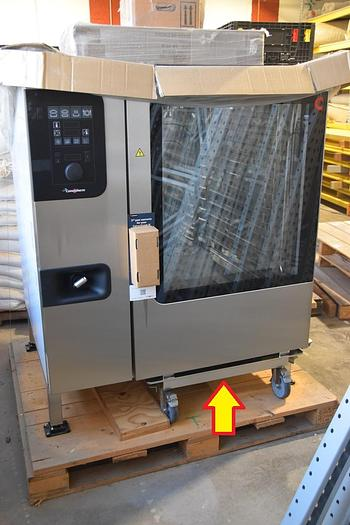 CLEVELAND RANGE CONVOTHERM COMBI ELECTRIC STEAM OVEN C4ED1220EB w/ S/S TROLLEY CART, #773C.