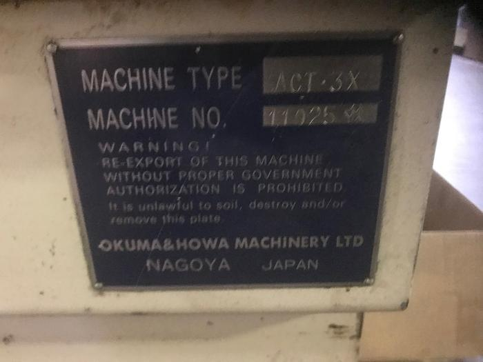 OKUMA HOWA ACT-3X 4-Axis Turning Center 1993