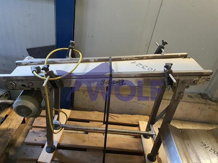 Gebraucht Transportbandca. 230 mm Arbeitsbreite, Länge ca. 1.200 mm