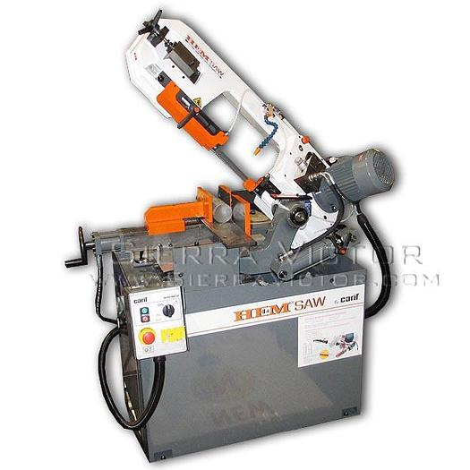 HE&M Semi-Auto Dual Miter Saw with Hydraulic Clamping Vise CARIF 260BSA