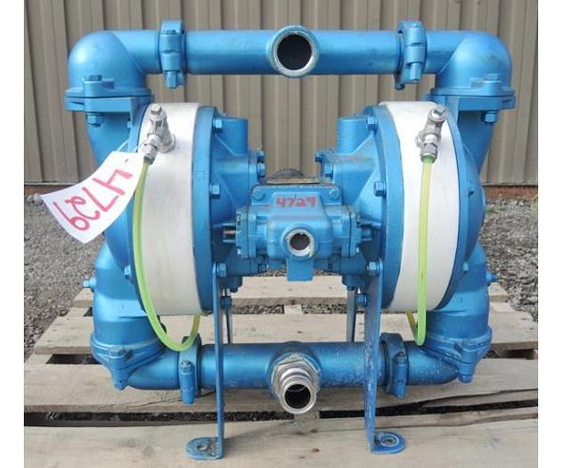 "Used USED DIAPHRAGM PUMP, 2"" X 1.5"" INLET & OUTLET, 316 STAINLESS STEEL, CONTAINMENT DUTY"