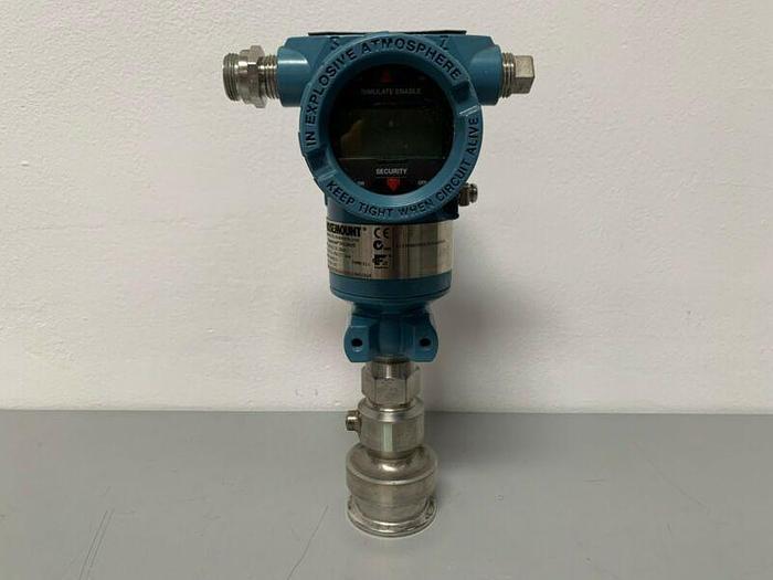 """Used Rosemount 3051TG2F2B21AS1Q8Q16M5IEQ4 Smart Pressure Transmitter w/ 2"""" Fitting"""