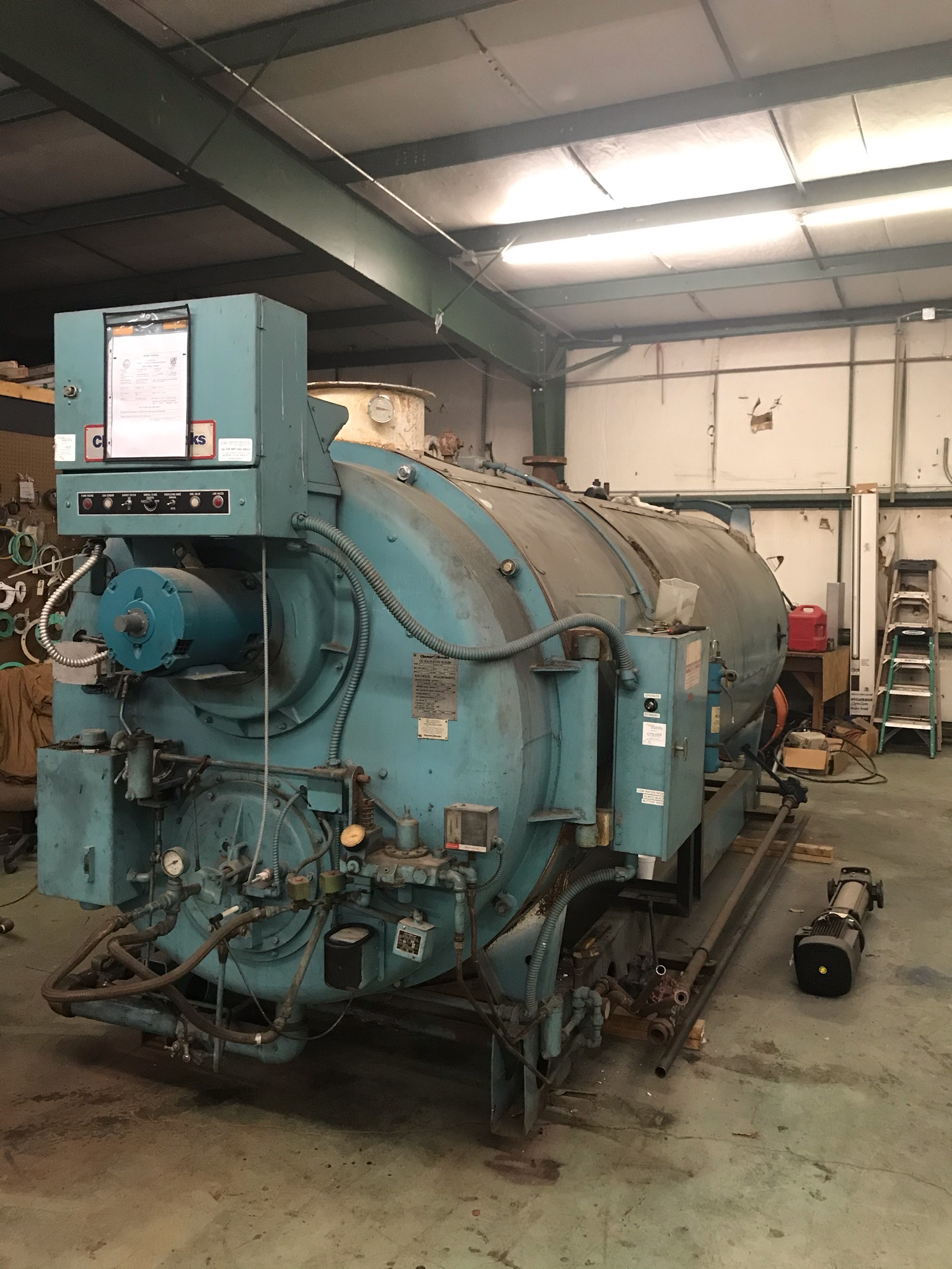 1990 Cleaver Brooks CB200-200 200 PSI 200 HP  CB200-200 Steam Boiler Fire Tube