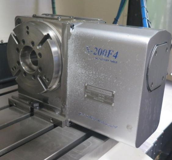 """Used Samchully Model S-200F4 4th Axis 8"""" Rotary Table #5883"""