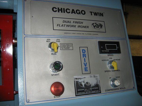 """1990 Chicago 2 roll 24"""" x 120"""" steam ironer"""