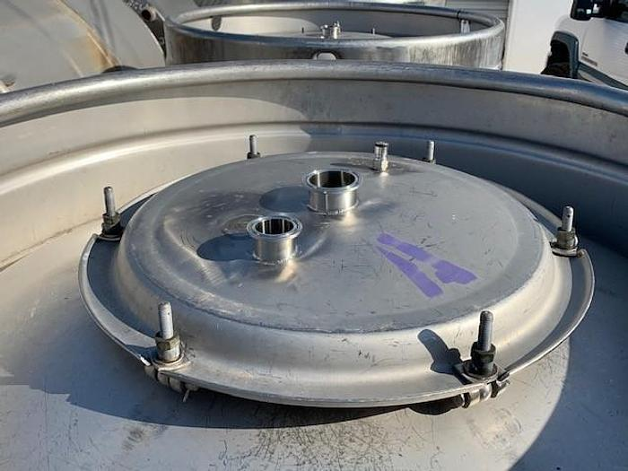 211 Gallon Round Stainless Steel Tote Tanks