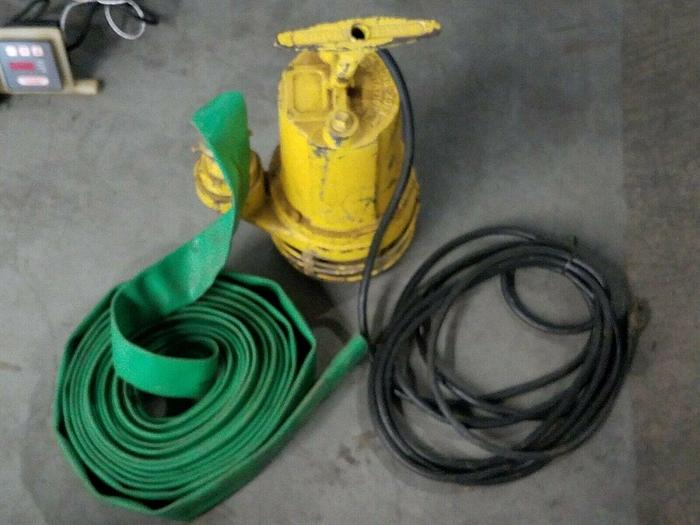 """Used Jameson 10,000 GPH High Output Industrial Water Pump with 2"""" hose 110V"""