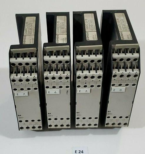 Used *PREOWNED* Lot of 4 Siemens Simatic S5-110 6ES5 400-7AA13 Input Module Cards