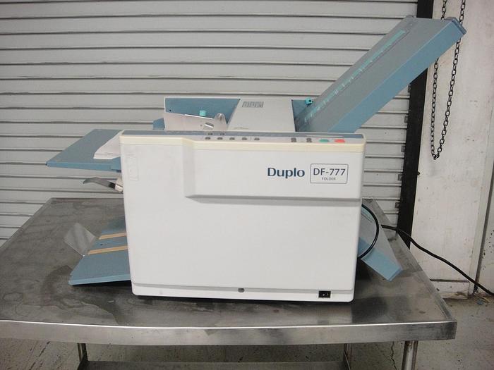Used Duplo DF-777 Automatic Desktop Desktop Paper Folder