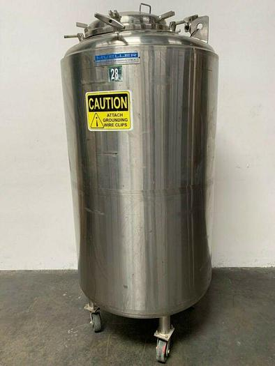 Used Paul Mueller 1100 Liter- F Stainless Steel Triple Jacketed Reactor 50 PSI