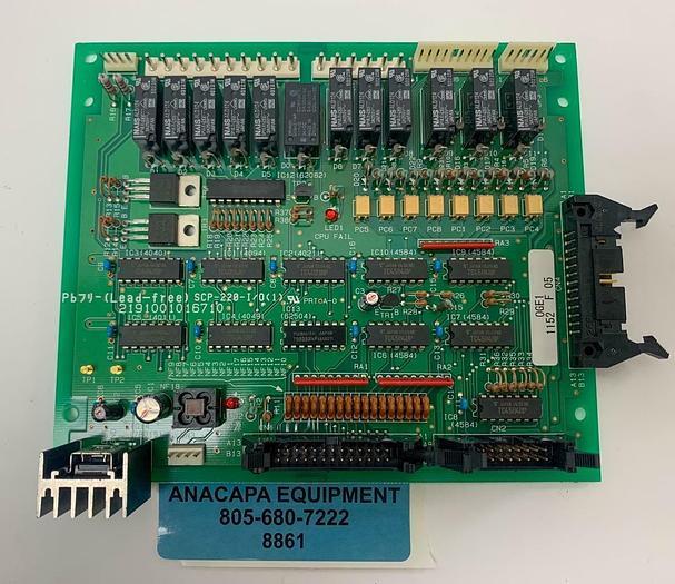 Used Amada PB7 SCP-220-I/0(1) 2191001016710 OGEI 1152 F 05 Circuit Board PCB (8861)W