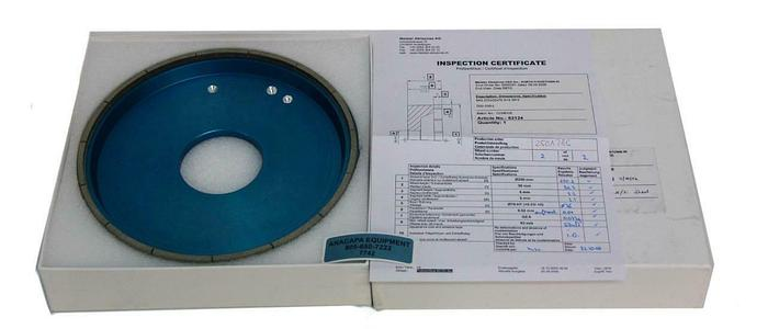 Meister Abrasives Silicon Precision Grinding Wheel 6A2 255x30x76 X=5 W NEW (7742