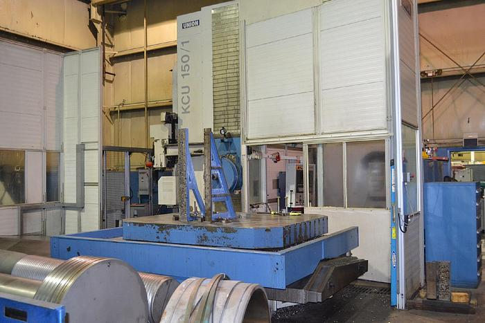 "Used 2010 6"" Union T Type CNC Horizontal Boring Mill, Model KCU 150, 79"" X 98"" Table, X=126"",  Y=119"", 3000 rpm, 62 hp, Siemens 840D"