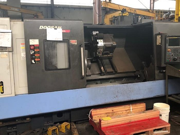 2011 Doosan Puma 480L CNC Lathe - With Fanuc 21iT-B Control (Excellent)