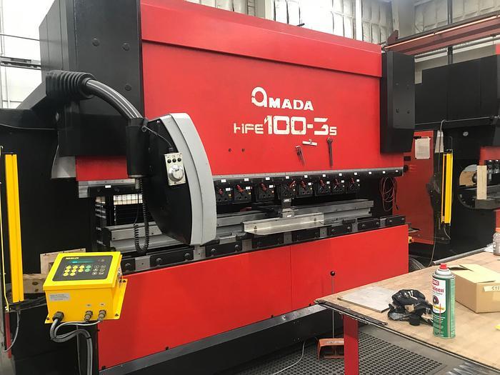 Used 2007 110 Ton Amada HFE100-3S CNC Press Brake