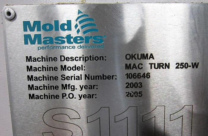 2003 OKUMA Macturn 250W