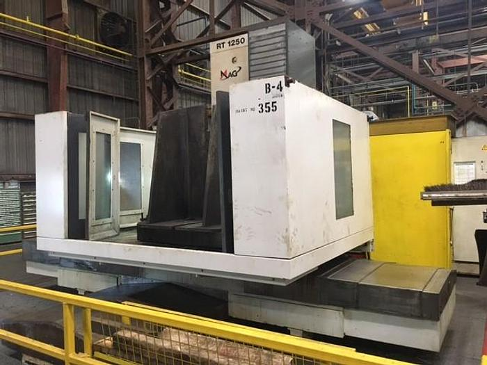 "Used 2011 Giddings & Lewis Horizontal Boring Mill, RT 1250, 6.10"" Spindle, Table 65"" X 71"", X-98"", Y-83"", Z-49"", 50 HP, 3500 RPM, Fanuc CNC"