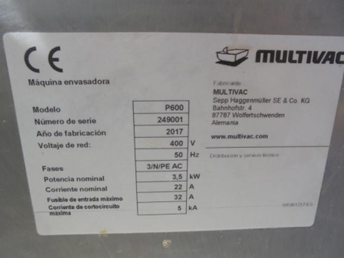 2017 MULTIVAC P 600