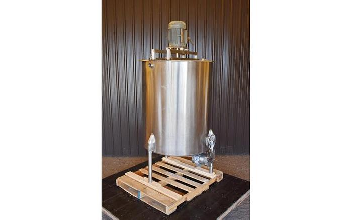 Used USED 250 GALLON TANK, STAINLESS STEEL, WITH HOMOGENIZER