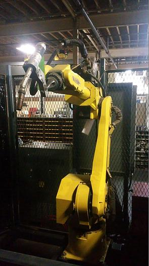 FANUC ARC MATE 120iB WITH R-J3iB CON, TEACH PENDANT & LINCOL